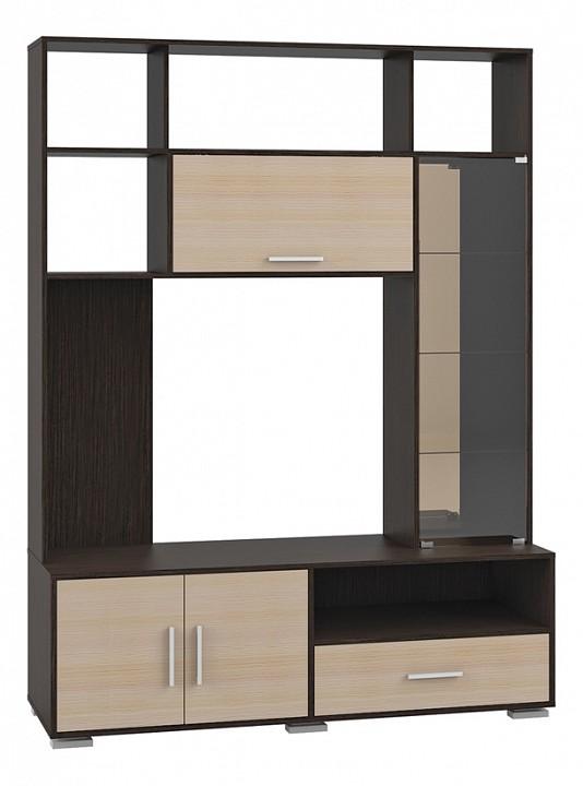 Гостиная MOBI MOB_Domino7-02K_shkafkombi_venge от Mebelion.ru