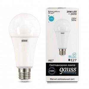 Лампа светодиодная [LED] Gauss E27 25W 4100K