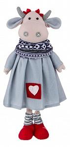 Мягкая игрушка (18х9х50 см) Телочка Илона в сером платье 476-104