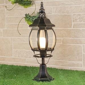 Наземный низкий светильник GL 1001S черное золото