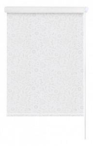 Штора рулонная Кружево 52x175 см., цвет белый