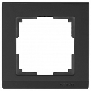 Рамка на 1 пост Stark WL04-Frame-01-black