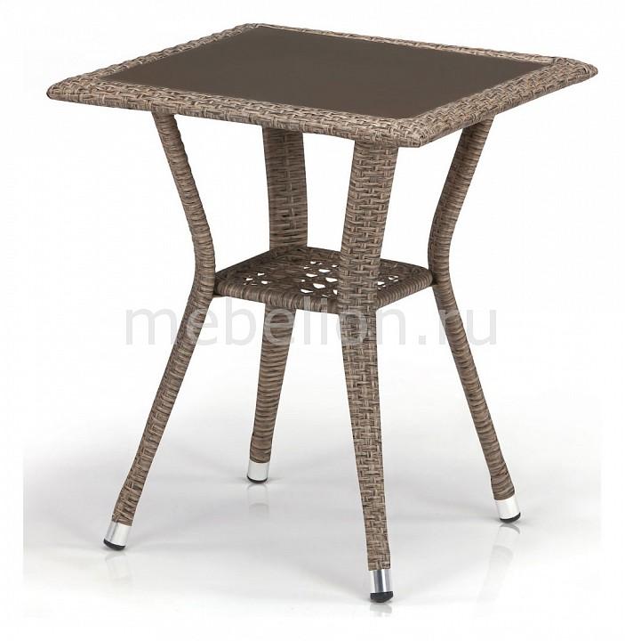 Стол Afina AFN_T25-W56-50x50_Light_brown от Mebelion.ru