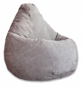 Кресло-мешок Серый Микровельвет 2XL