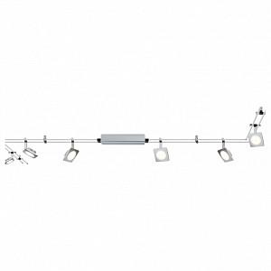 Спот поворотный Quadled, 6 лампы  по 4 Вт., 1.86 м², цвет никель матовый