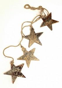 Елочная гирлянда (65x11 см) Golden Stars en_ny0028