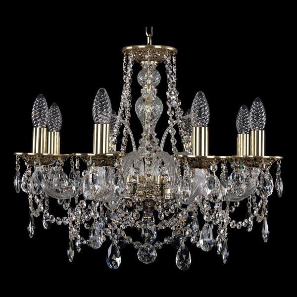 Подвесная люстра 1611/8/195/GB Bohemia Ivele Crystal  (BI_1611_8_195_GB), Чехия